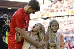 Despedida a Steven Gerrard en Anfield. Foto: Getty Images