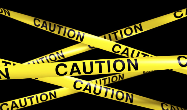 3d rendering of CAUTION tape.