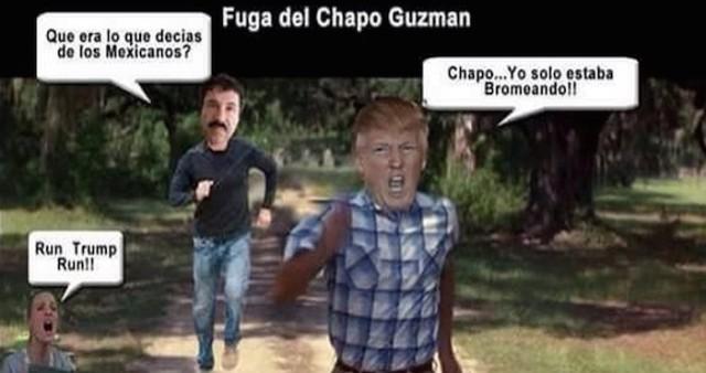 """Los memes de las supuestas amenazas de """"El Chapo"""" Guzmán a Donald ..."""