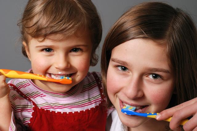 La higiene de los dientes de los bebés