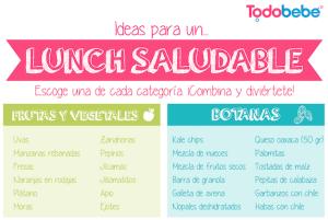 Elegir un lunch saludable para tus hijos ¡todos los días! ¿Complicado?