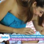 Consejos para las visitas cuando nace tu bebé
