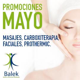 Balek, promociones mayo