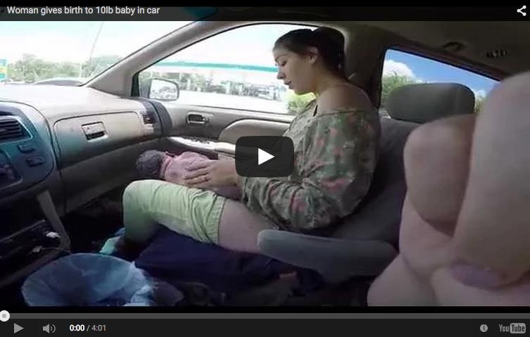 Mamá da a luz a bebé de 4.5 kilos en el coche