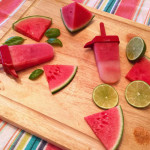 Sweet and spicy watermelon paletas