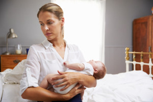 Triste después de que nace el bebé, el baby blues