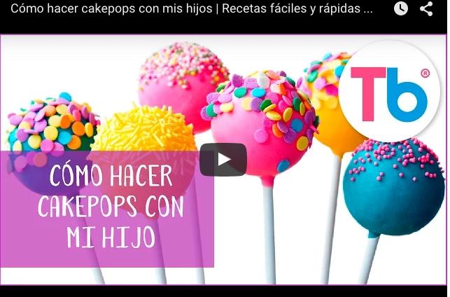¿Cómo hacer cakepops con tus hijos?