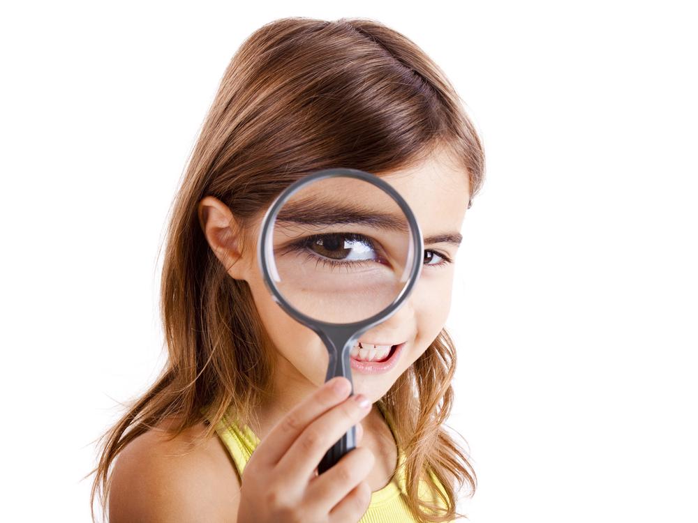 Niños con ojos sanos