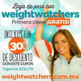 Cupón Weight Watchers