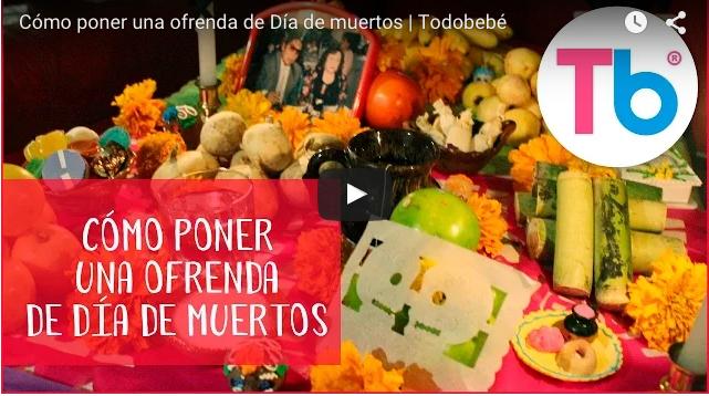 VIDEO: Cómo poner una ofrenda de día de muertos