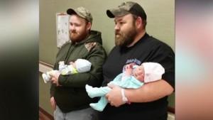 Dos hermanos tuvieron a su primer hijo el mismo día