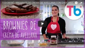 Receta de brownies de crema de avellana