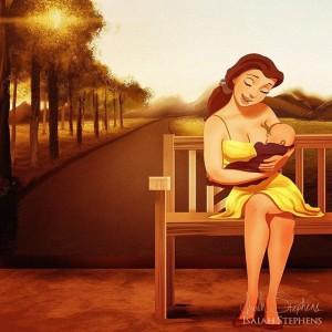10 princesas de Disney disfrutando de la maternidad