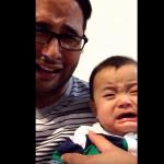 VIDEO: Padre finge llanto y su bebé llora también
