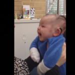 VIDEO: bebé sordo escucha a su mamá por primera vez