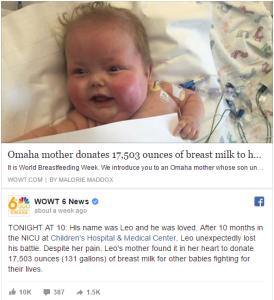 hija mama dona leche materna