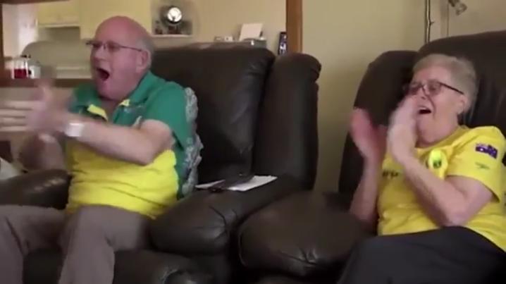 VIDEO: Así reaccionaron al ver a su nieto ganar oro en Rio 2016