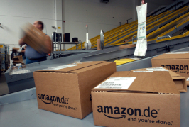epa04329828 (FILE) A file picture dated 18 June 2003 of parcels sent by e-commerce giant Amazon in Bad Hersfeld, Germany. Amazon posted a 23-per-cent rise in second-quarter revenue 24 July 2014, with sales at the web's largest retailer climbing to 19.3 billion dollars. But the company's grow-at-all-costs strategy took a heavy toll, with Amazon posting a 126 million dollar loss in the quarter, compared to a loss of 7 million dollars a year earlier. Even worse for Amazon investors was a projected third-quarter loss of as much as 810 million dollars. The figures sent shares in the giant online store down 6 per cent in after-hours trading. The financial results came a day before Amazon is due to release its latest innovation, the Fire phone, an Amazon-linked smartphone that the company hopes will prompt users to increase their mobile purchases on the site. Amazon chief executive Jeff Bezos didn't address the loss in the earnings release, but mentioned new ventures. EPA/UWE ZUCCHI *** Local  *** 02191044