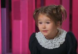 La niña habla ruso, inglés, alemán, chino, español, francés y árabe.  (Captura de pantalla)
