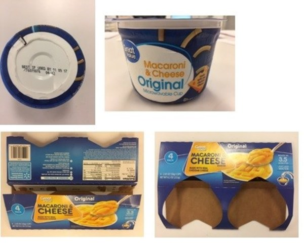 Foto: TreeHouse Foods, Inc. Great Value Macaroni & Cheese Original Cups.
