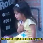 """VIDEO: El mejor """"drama"""" del año se lo lleva una niña regañada"""