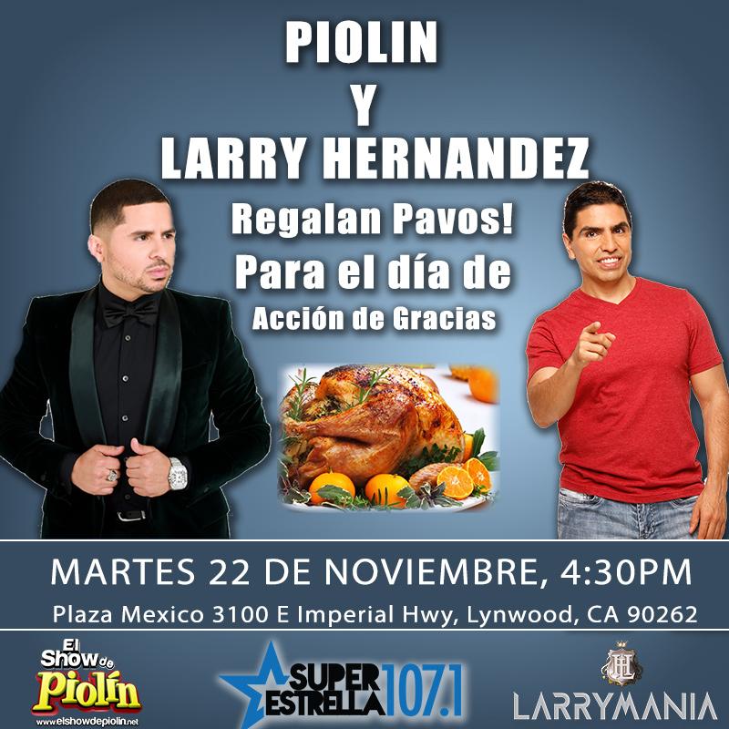 Larry Hernandez y Piolin regalan pavos!!!