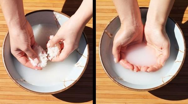 Agua de arroz para fortalecer el cabello